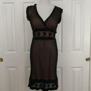 Max studio black lace, nude underlining size S